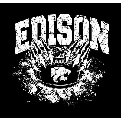 Edison Wildcats Football Design 1