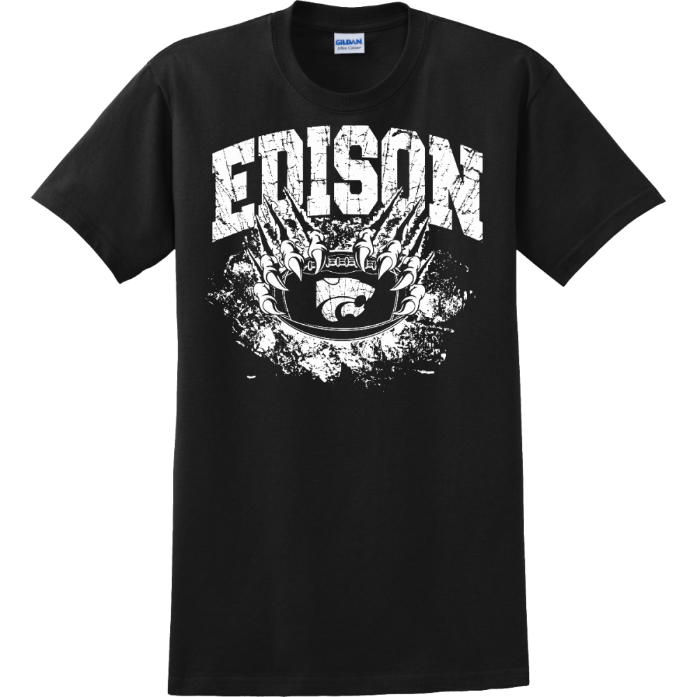 Edison Wildcats Football Design 1 T Shirt