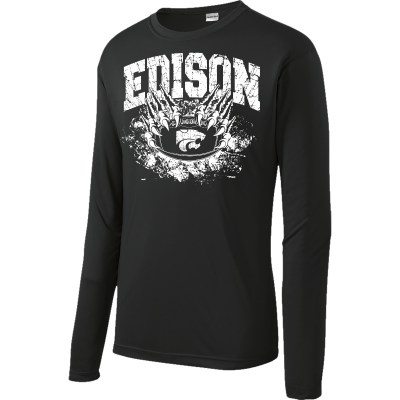 Edison Wildcats Football Design 1 Long Sleeve Competitor Tee