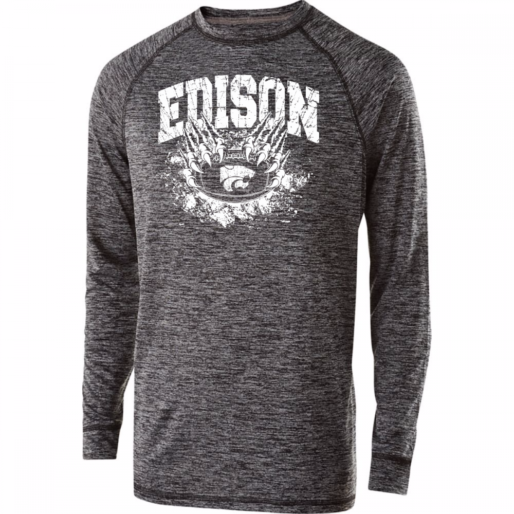Edison Wildcats Football Design 1 Electrify Long Sleeve Shirt